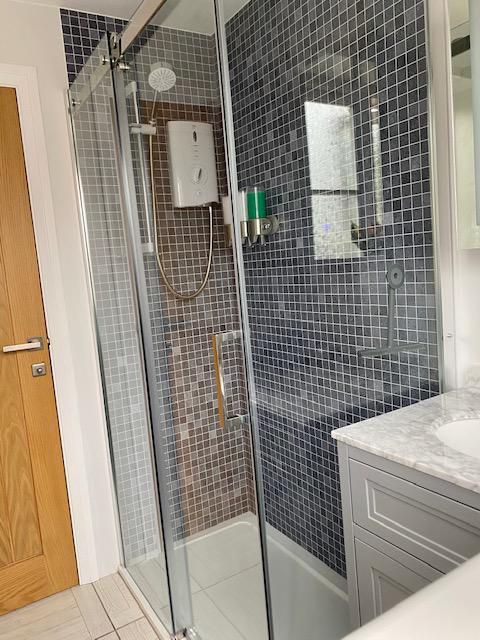 Image 17 - Installation of a new shower room with an electric shower