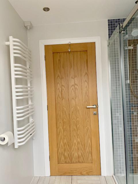 Image 18 - Electric towel rail installed
