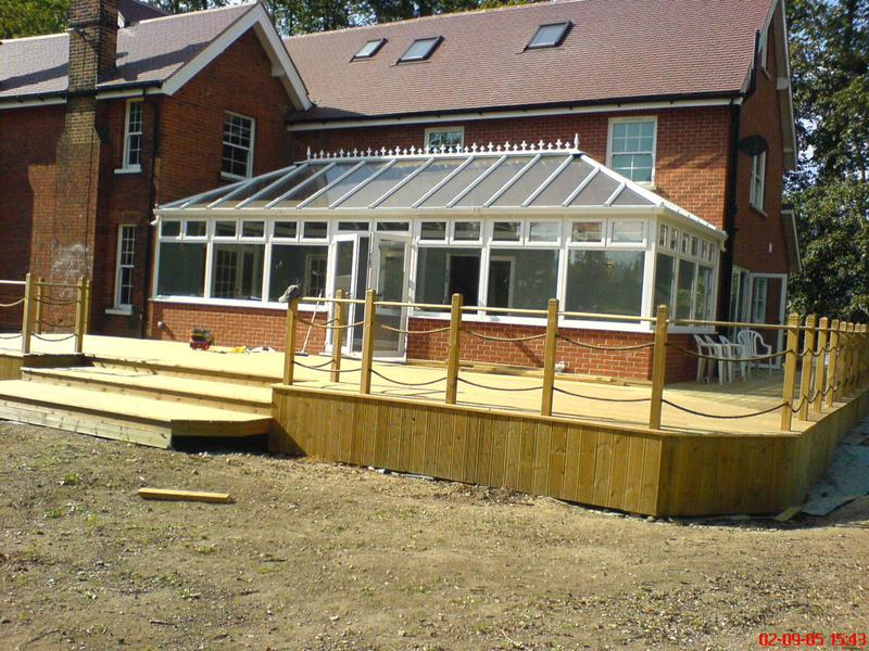 Image 8 - New conservatory & raised decking area to The Shrubberys Epping