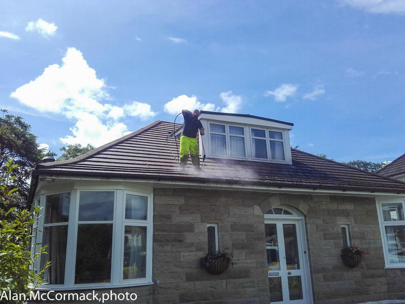 Image 34 - Pressure washing moss covered tiles can bring your roof back to life , a ggod example here
