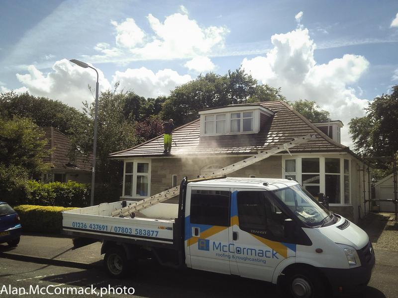 Image 35 - A recent job in Bearsden Cleaning Roof to remove moss