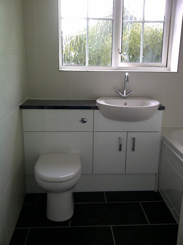 Image 168 - basin/toilet units with metal tile trims - Grange Park