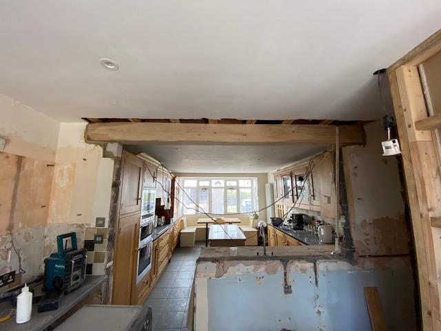 Image 9 - New Oak beam supplied & fitted
