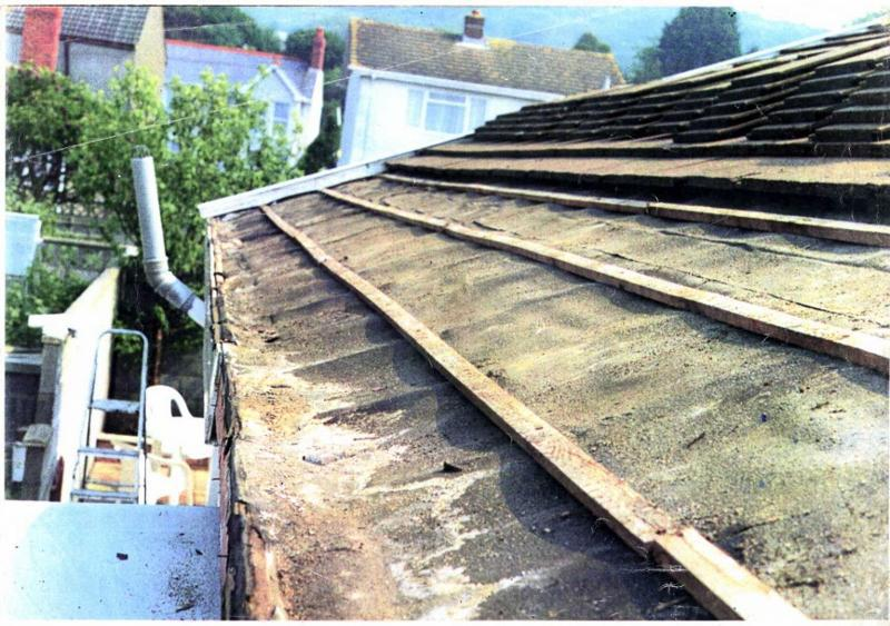 Image 5 - a roof is only as good as what is beneath,old and worn felt & batten can allow rainwater to get into your roofspace,