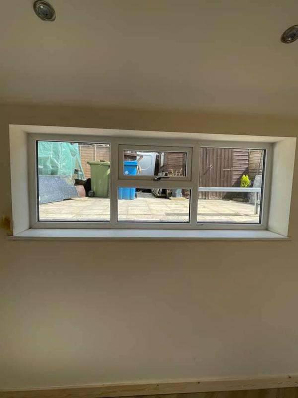 Image 11 - Oldham Extension Project - During - Window finished and cill installed