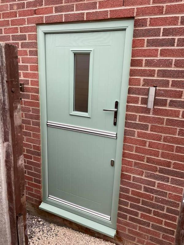 Image 1 - Oldham Extension Project - During - Green barn door