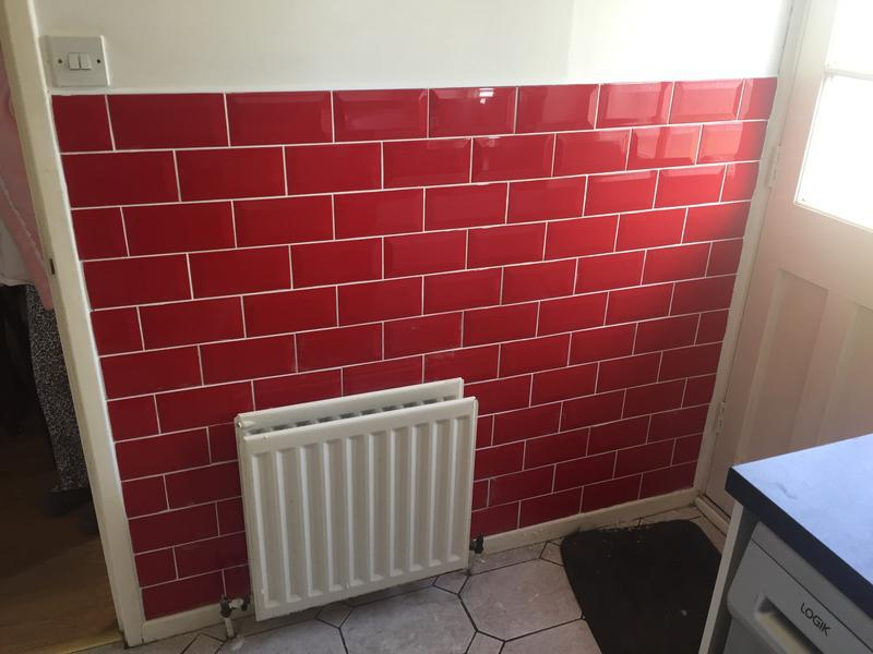 Image 20 - Customer wanted a bit of a wall tiling to stop the dog getting it mucky