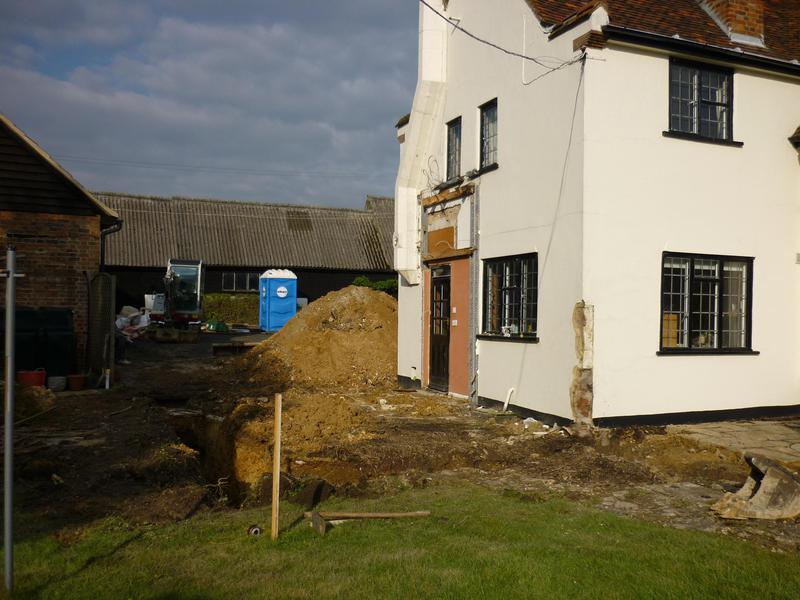 Image 21 - Foundations in for a 2 storey extension in for clients in Hertfordshire