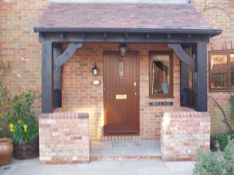 Image 32 - A rustic style porch recentley completed