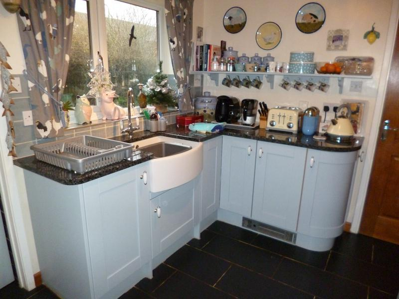Image 25 - Buler Sink, Curved Units & Plinth Heater