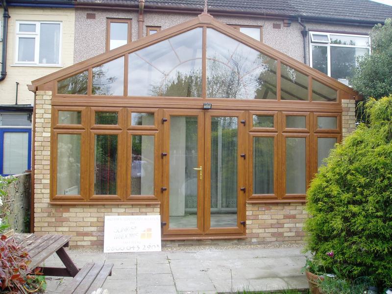 Image 22 - Light oak upvc gable conservatory