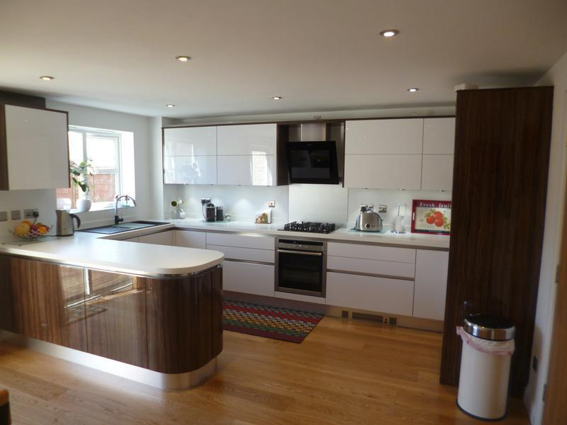 Image 34 - Crown Imperial Furore handle less kitchen installed in Bicester