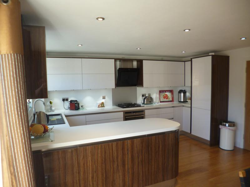 Image 35 - Crown Imperial Furore handle less kitchen installed in Bicester