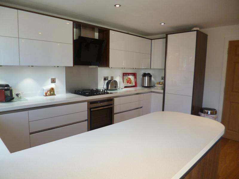 Image 37 - Crown Imperial Furore handle less kitchen installed in Bicester