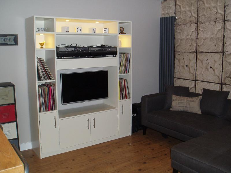 Image 26 - Bespoke TV cabinet with LED down lights