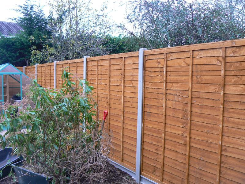 Image 28 - 6ft high lap fencing with concrete posts and gravel boards