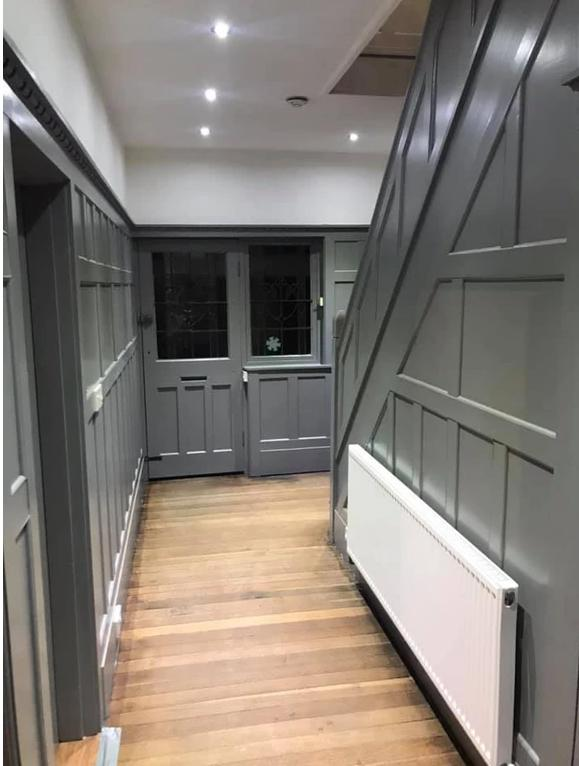 Image 54 - Staircace in handsworthwood Birmingham full height panneling new look in paint Finnish modern grey another happy customer