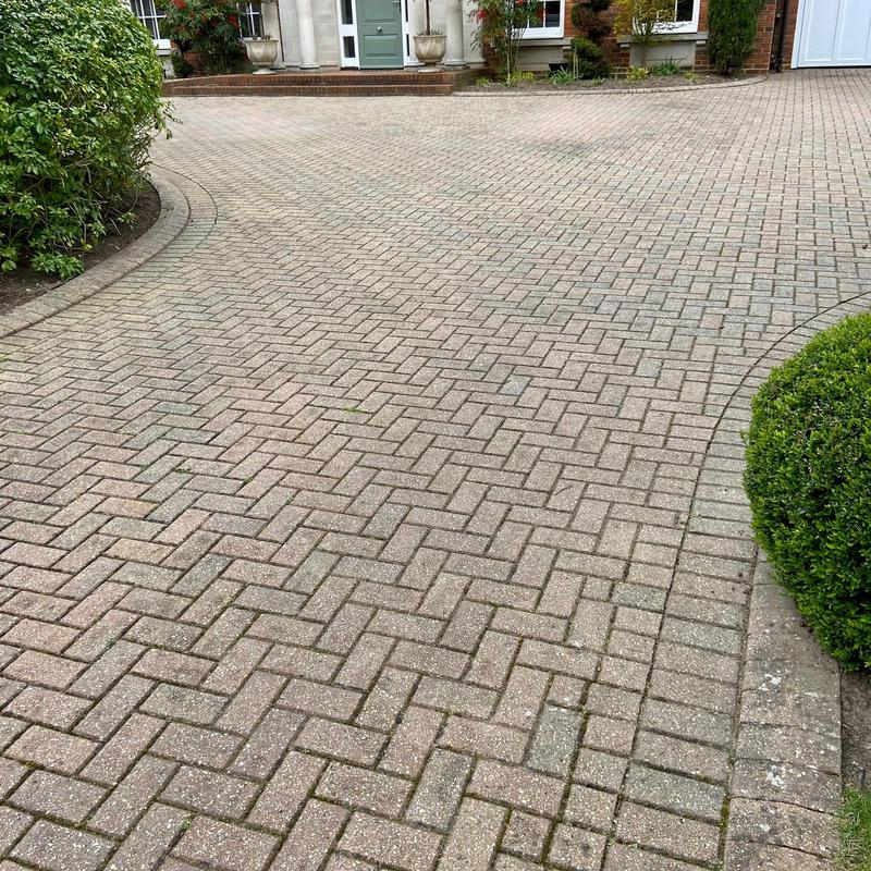 Image 11 - The same Burwood Park driveway before we began our process.
