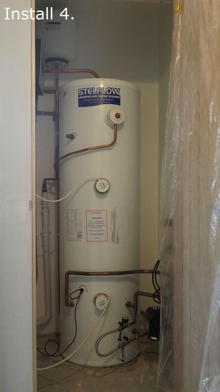 Image 5 - Final check on a 300 litre twin coil, twin element unvented cylinder.