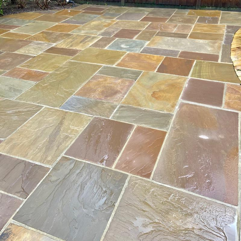 Image 9 - The same Shepperton patio, cleaned and treated for blackspot.