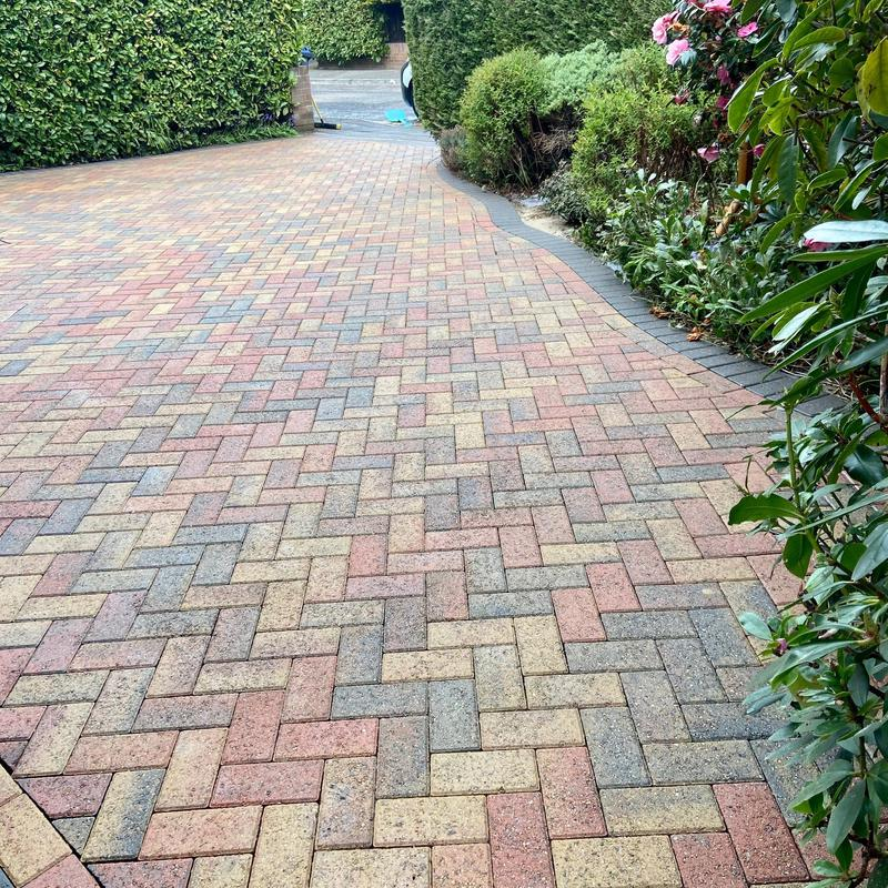 Image 8 - The same Weybridge driveway, cleaned and treated for blackspot.