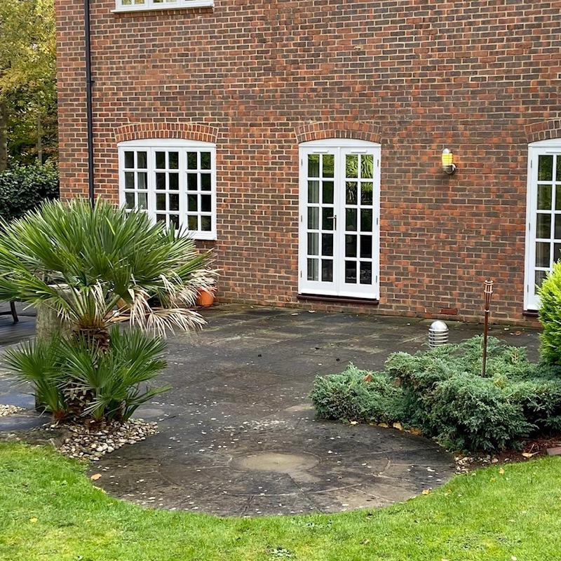 Image 7 - A West Byfleet patio before we began our process.