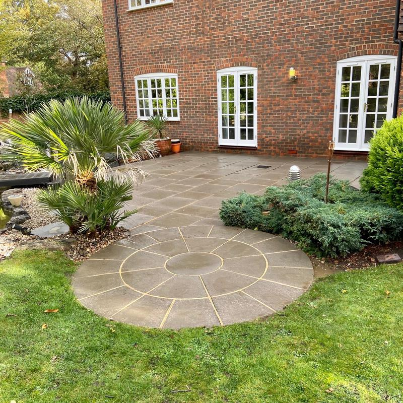 Image 6 - The same West Byfleet patio, cleaned and treated for blackspot.
