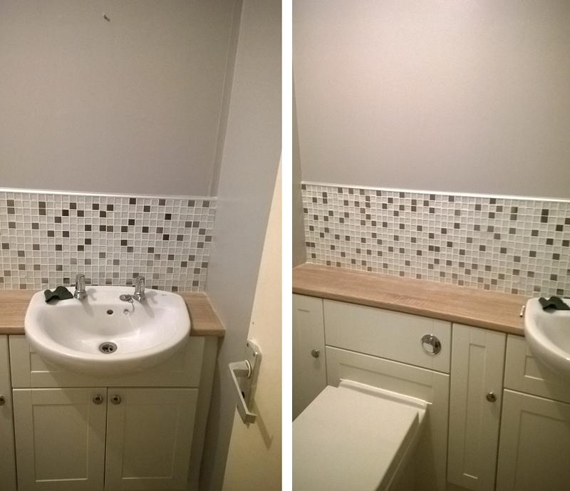 Image 4 - painted ceiling ,walls in colour and had the bottom walls tiled