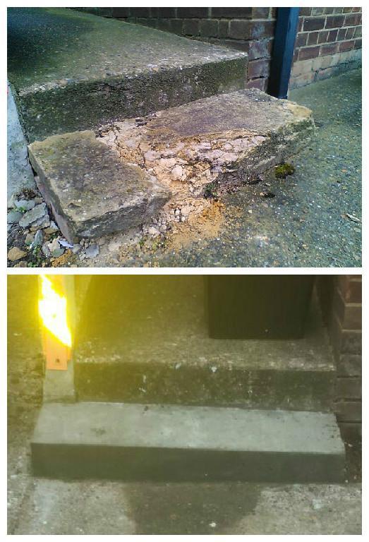 Image 21 - Concrete step refurbished.