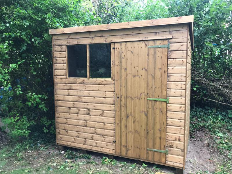 Image 16 - New pent shed installation, Piddletrenthide