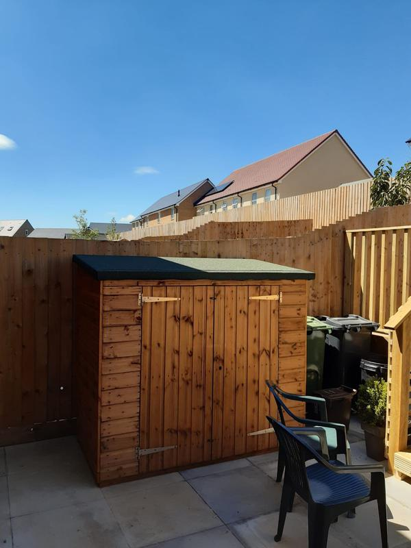Image 189 - New bike store, installed for a client in Yeovil along with new decking and patio area