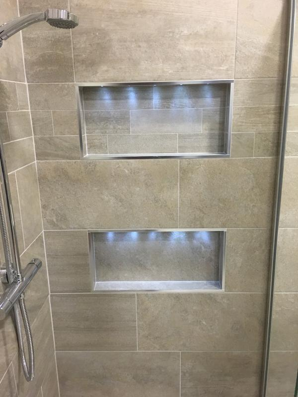 Image 24 - Recessed shelving with LED lighting