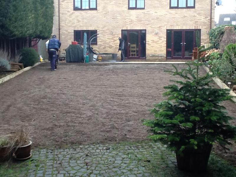 Image 9 - We are preparing the area for new turf to be laid, new sleepers for edgings