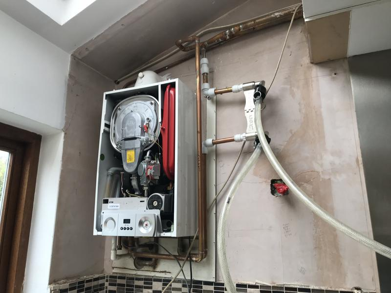 Image 2 - Here we have an old Remeha in North Finchley connected to our Magnacleanse machine as our customer was having patchy issues and circulation problems.