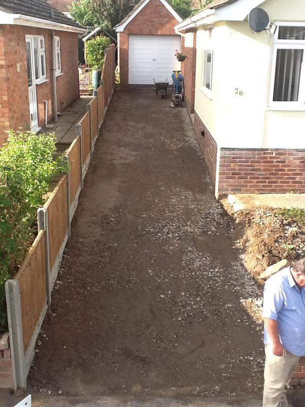 Image 14 - We have erected a new featheredge fence and installed a new sub-base