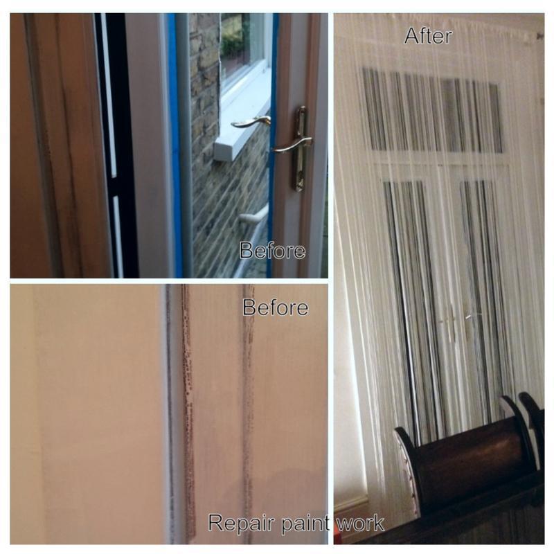 Image 11 - repair badly pinted door way.