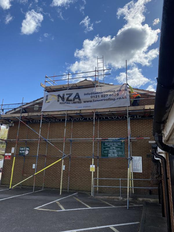 Image 6 - Large 700 square metre new roof for a local council. Grey Marley Mendip tiles, new Fascia, Soffit & Guttering, complete with dry ridge and verge system