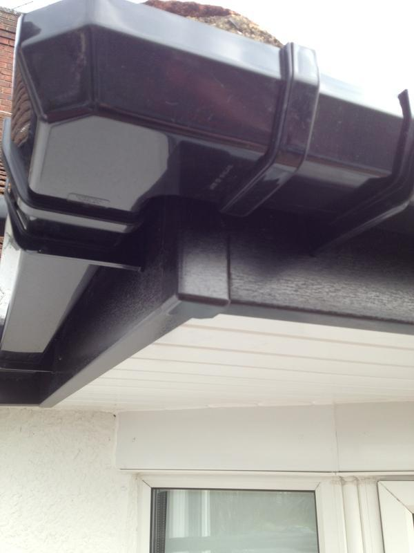 Image 11 - Black fascia with black square gutters.