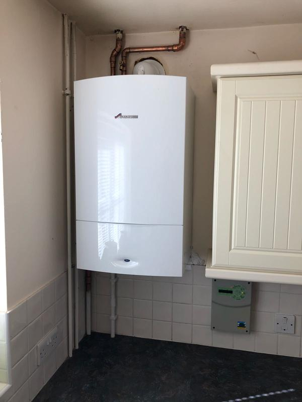 Image 11 - Worcester conventional boiler fitted in place of existing boiler in the same location.