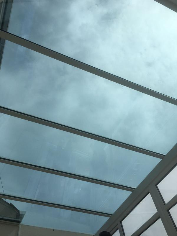 Image 64 - Sunshade 1.0 Blue, antisun, self cleaning, argon filled, Low 'E', warm edge spacer bar, blue tinted excellence. A 1.0 uValue. compared to a modern house of 1.8 is outstanding!
