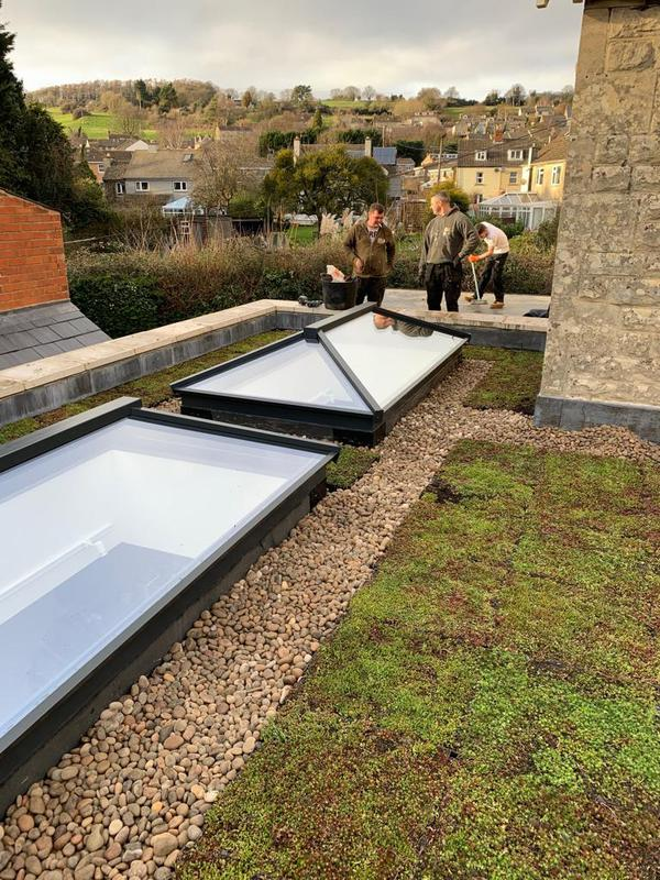 Image 9 - roof top lanterns and sedum roof feature of one of our recent projects