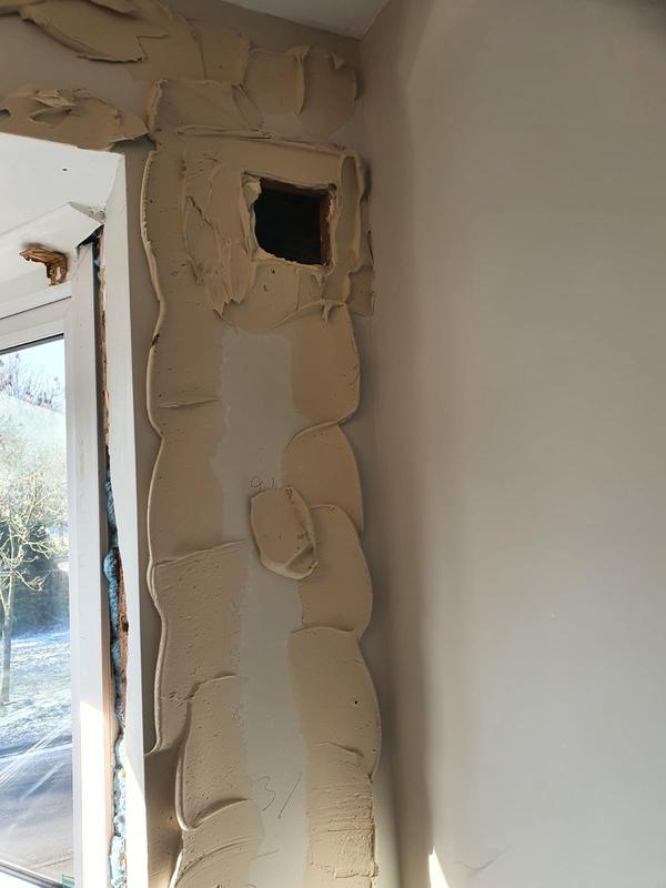 Image 7 - Thermal insulation boards applied to this solid 9inch bedroom wall so the surface temperature and heat retention will be much improved, creating a warmer cosier room.
