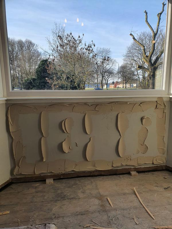 Image 8 - Thermal insulation boards applied to this solid 9inch bedroom wall so the surface temperature and heat retention will be much improved, creating a warmer cosier room.