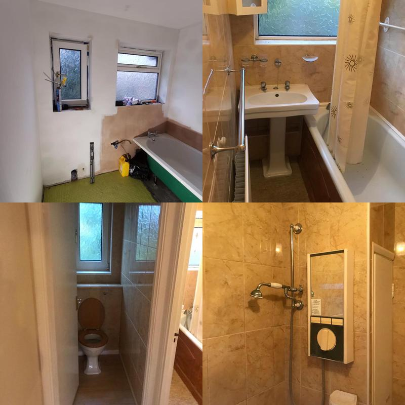 Image 1 - Bathroom Installed in Orpington. January 2020, before after photos.