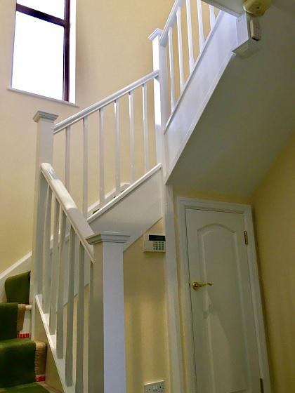 Image 20 - First stained spindles, primed two coat satinwood oil based  finish