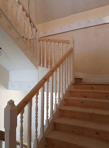 Image 20 - New stair case fitted in Manor House