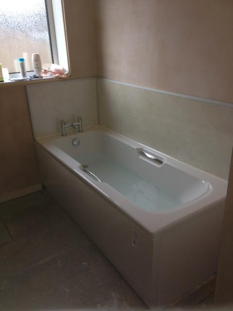 Image 6 - Tile board installation with new bath