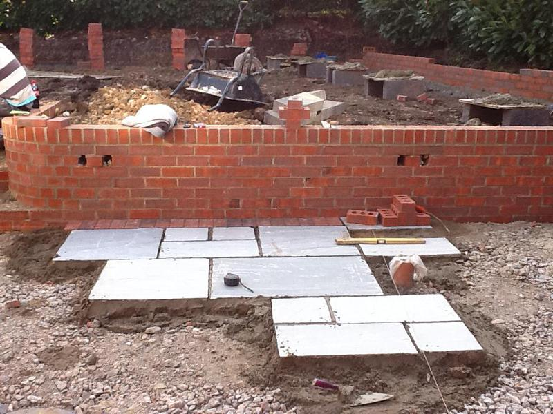 Image 32 - We have built a wall, chiseled in steps accompanied with indian sandstone
