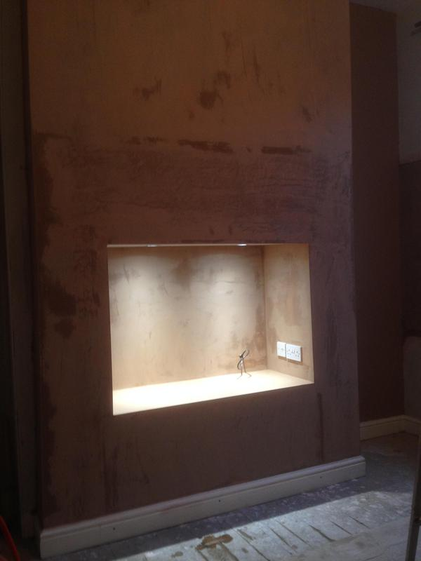 Image 14 - hey presto, a nice void for flatscreen tv at a customers house, im waiting for painter to finish and tv in place for final photo..