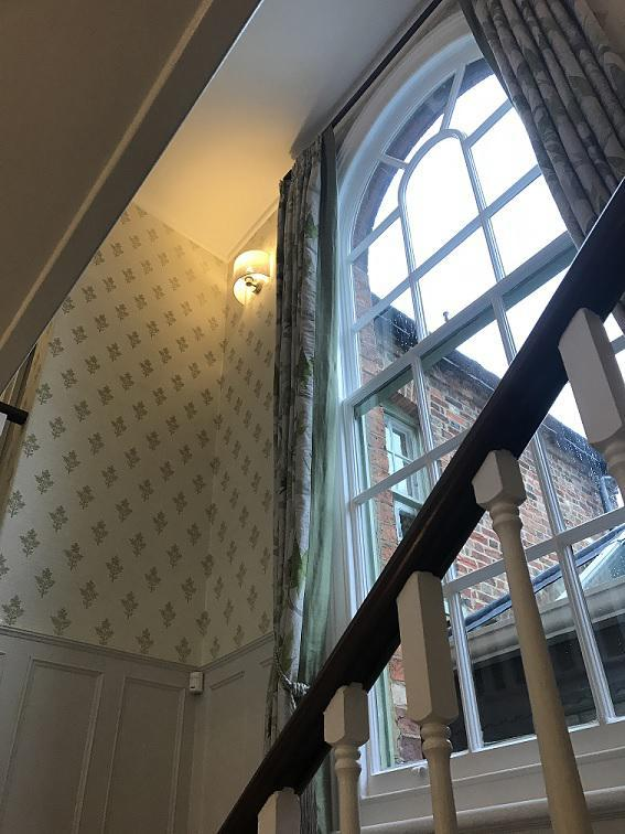 Image 7 - A recent hall stairs and landing , we stripped and lined the existing walls and hung a zoffany wallpaper supplied by an interior designer .All woodwork and ceilings were painted as part of this project . All work was completed while the client was at home . At the end of each working day the staircase was cleaned up and hoovered and presented back to the client.Click to add a caption